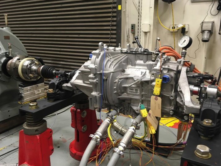 Instrumented Bolt gearbox in test configuration