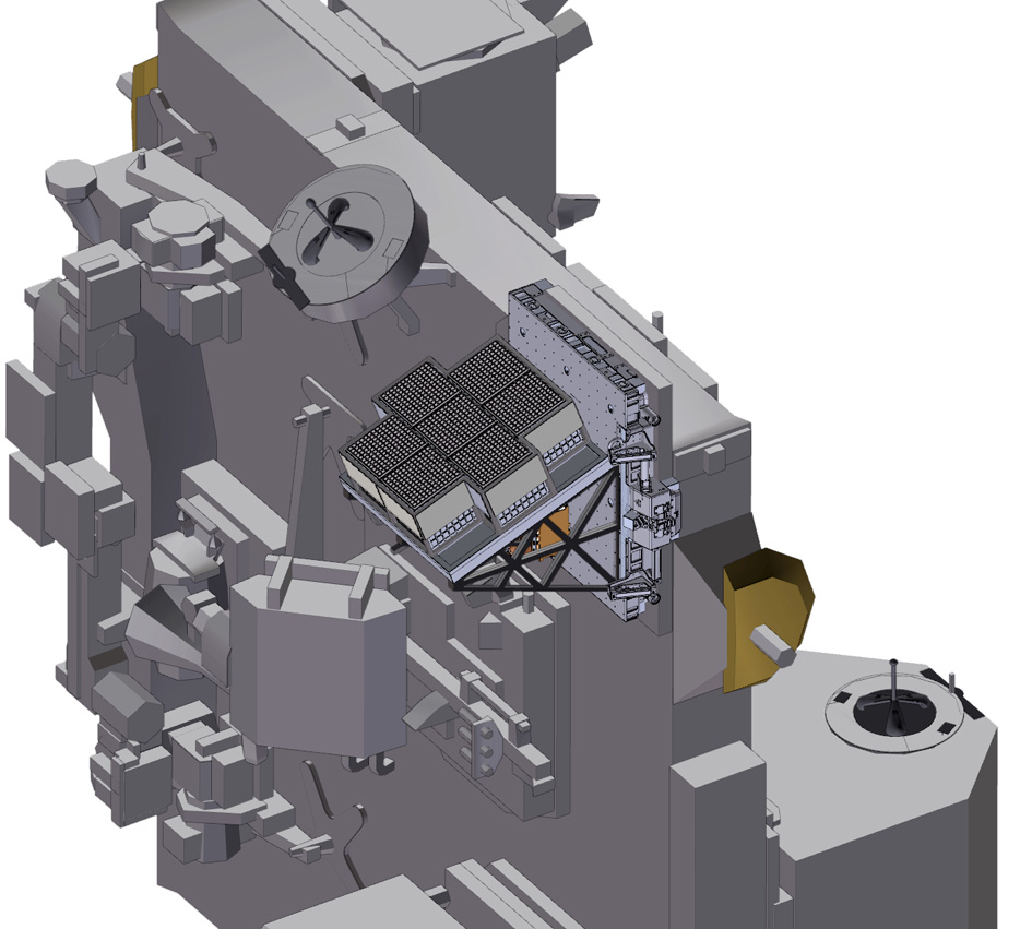 an array of seven independent polarimeter modules