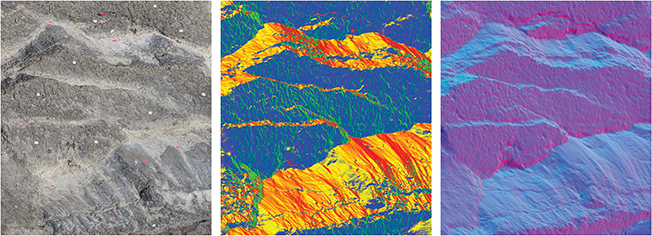Computer generated high-resolution 3D data and data visualization of rock