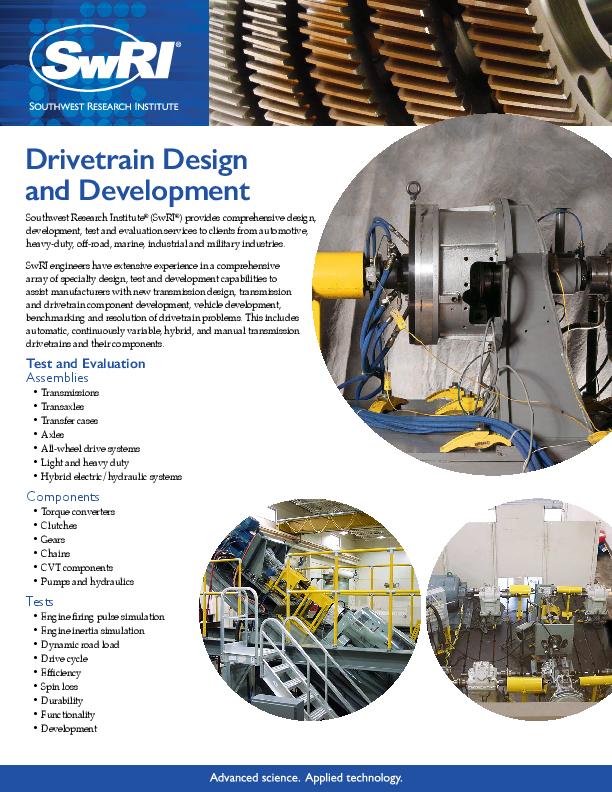 Drivetrain Design and Development
