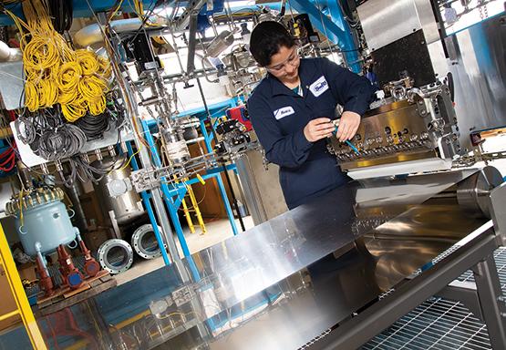 Pilot plant to produce polymer insulation aerogel films