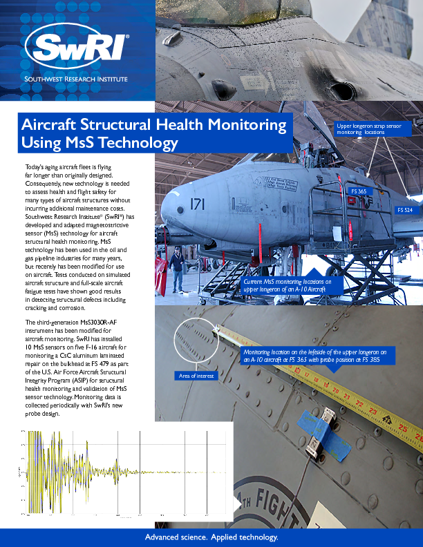 Go to Aircraft Structural Health Monitoring Using MsS Technology flyer