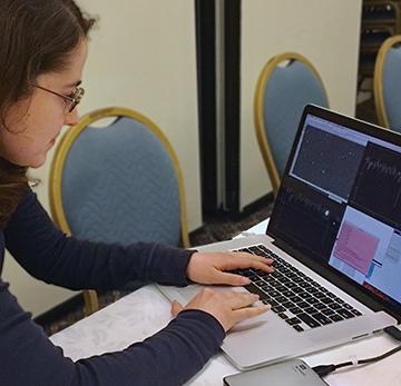 Campaign scientist, Amanda Zangari