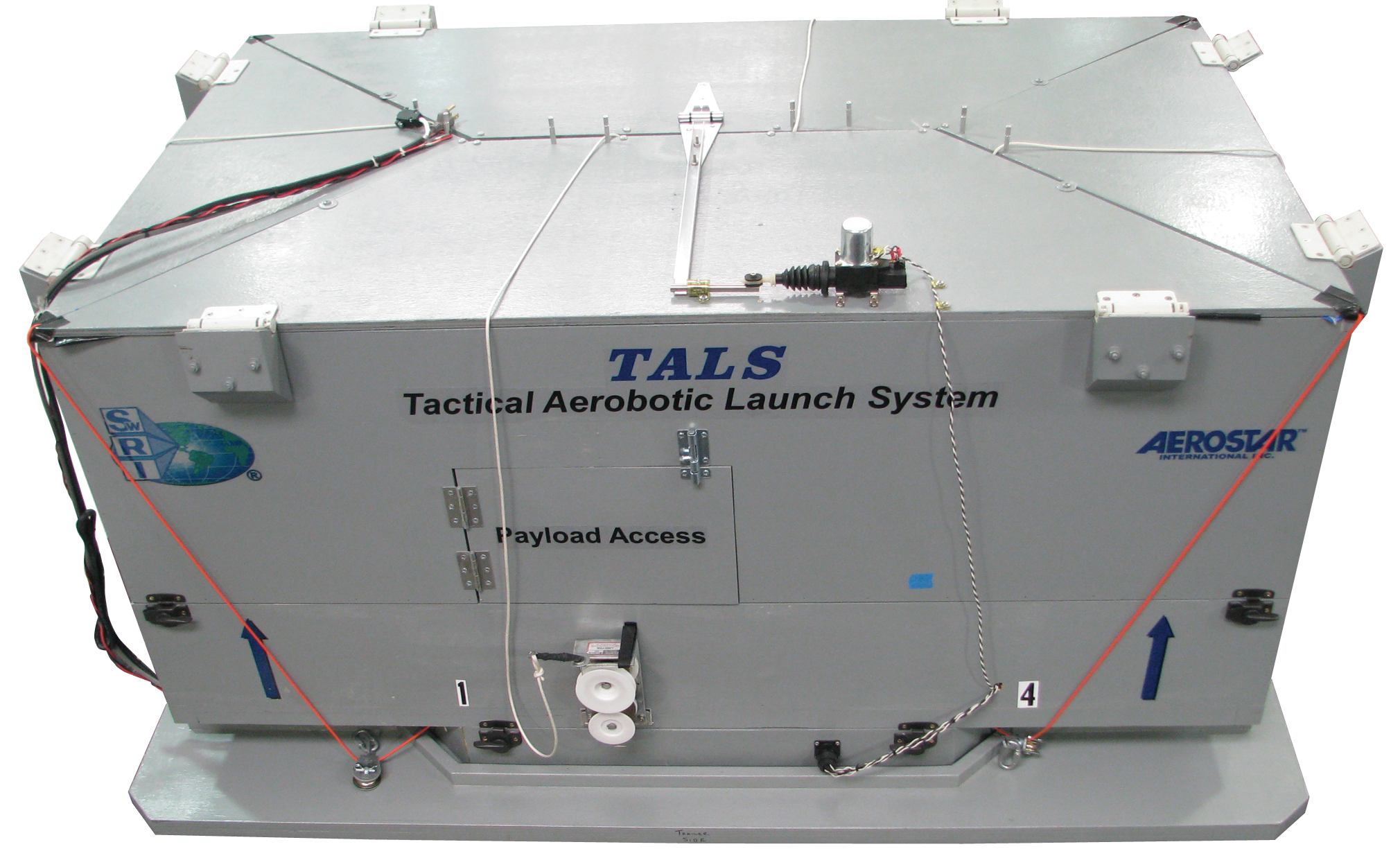 Tactical aerobotic launch system box