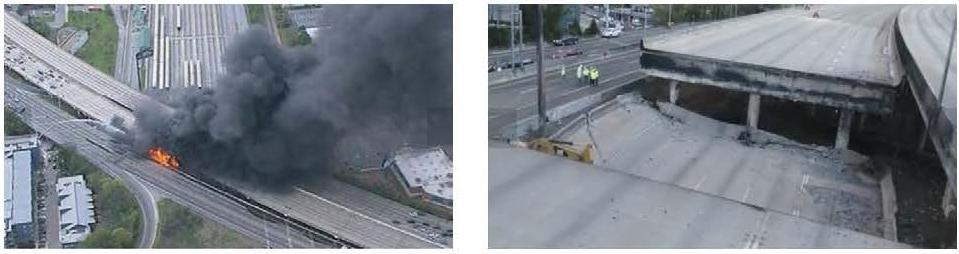 Fire damage to bridges