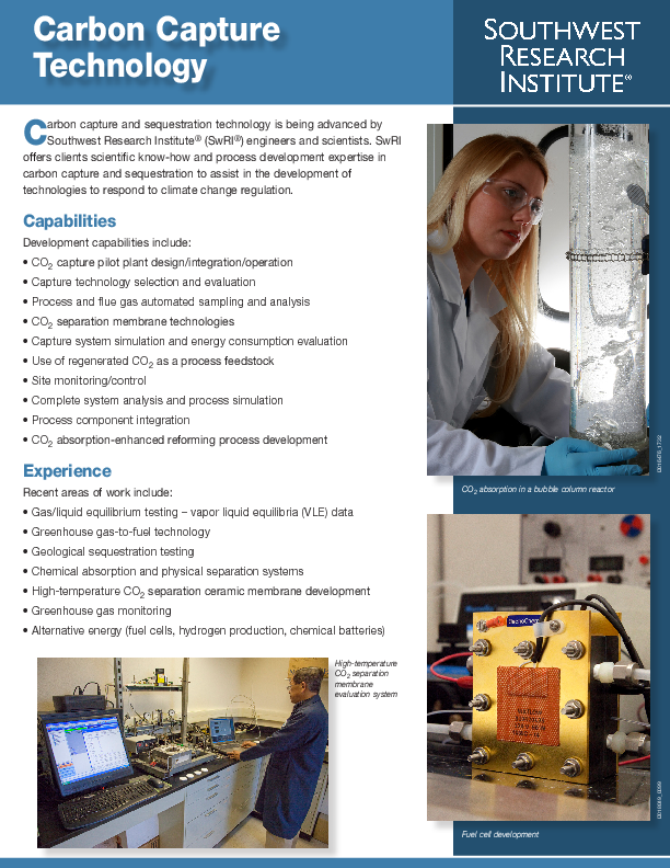 Go to Carbon Capture Technology brochure