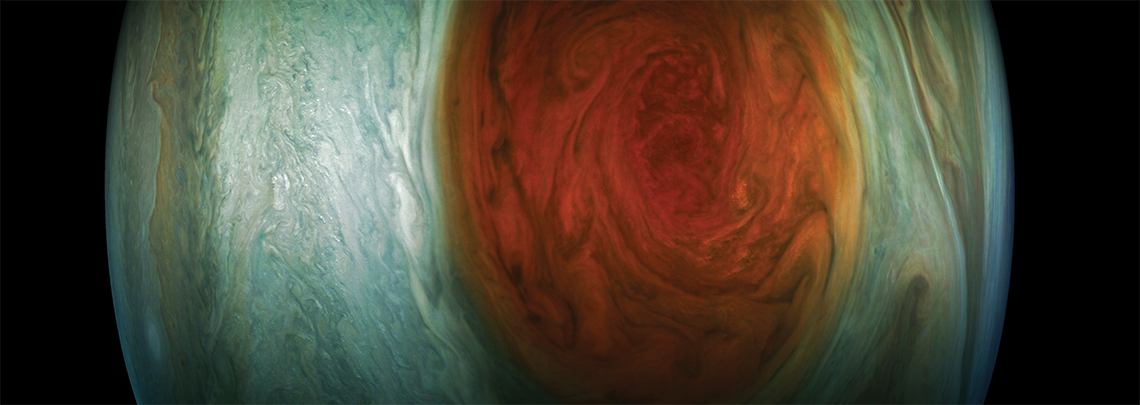Citizen-scientist-created image of Red Spot using JunoCam data