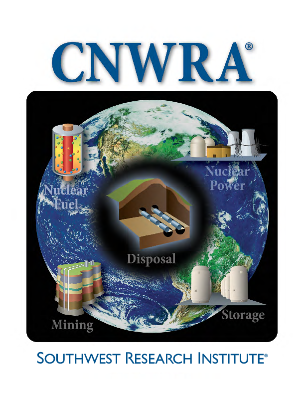 Go to CNWRA brochure