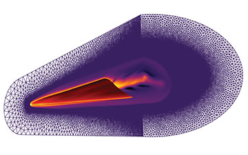 Graphic showing heat of projectile in flight glowing red and orange