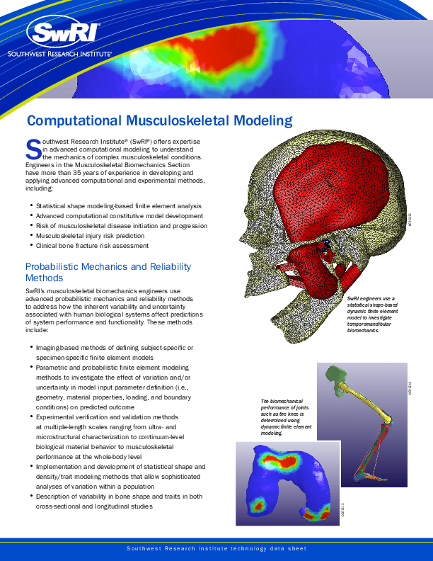 Go to Computational Musculoskeletal Modeling brochure