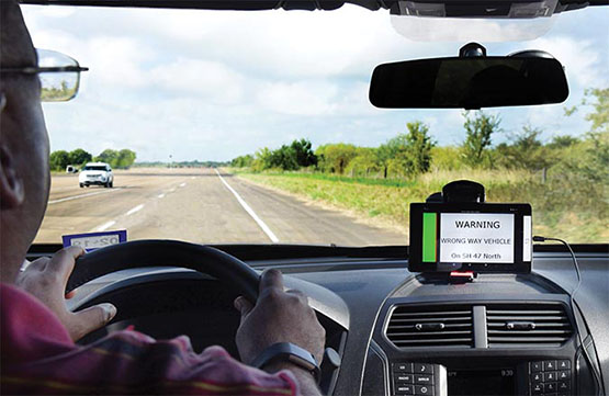 in cabin traffic indicator