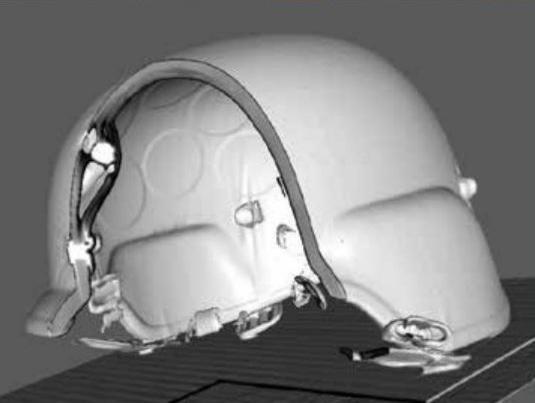 CT image of helmet