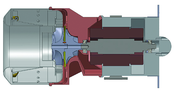 Cutaway illustration of gas turbine generator