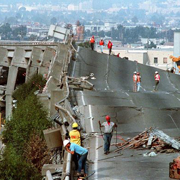 Cypress Freeway after earthquake