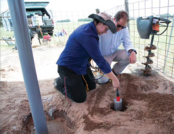 Installing seismometer near wastewater disposal well