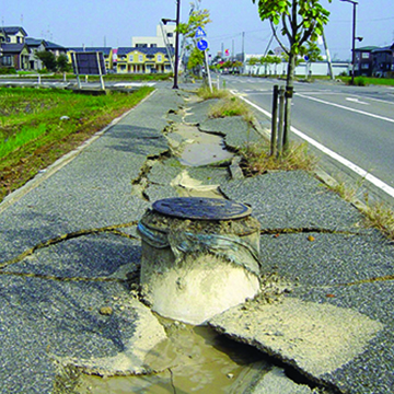 Structure floating to surface in earthquake