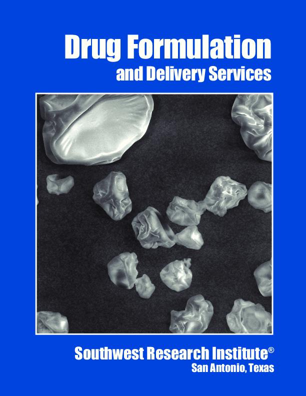 Go to Drug Formulation and Delivery Services Brochure