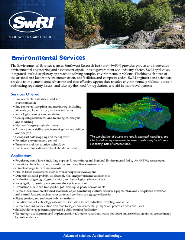 Go to environmental services flyer