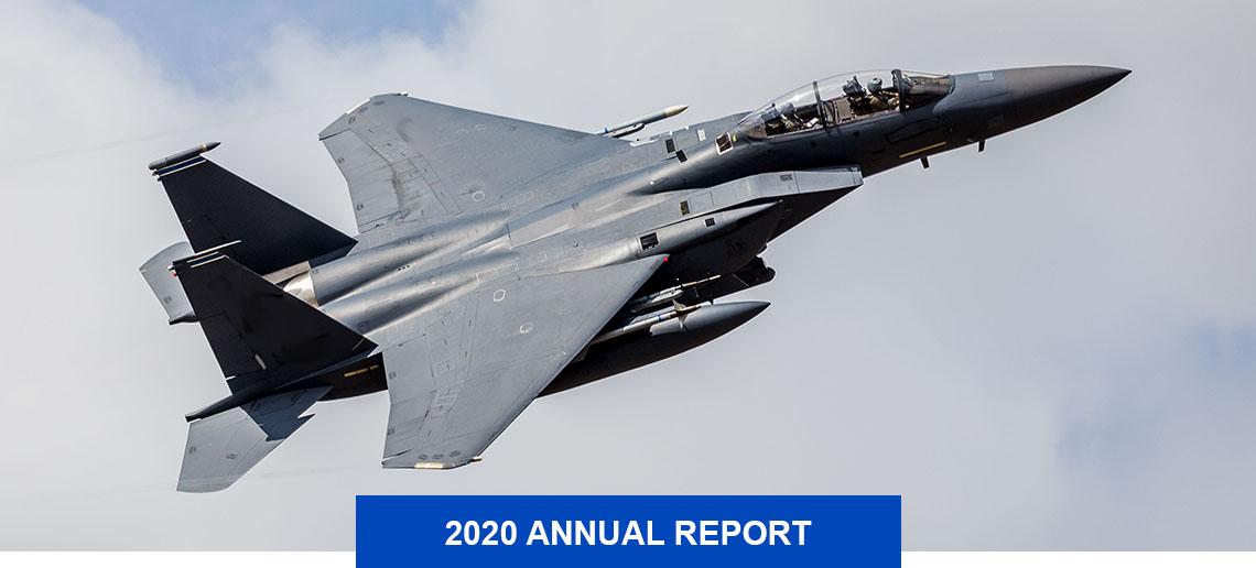 F-15 jet in flight