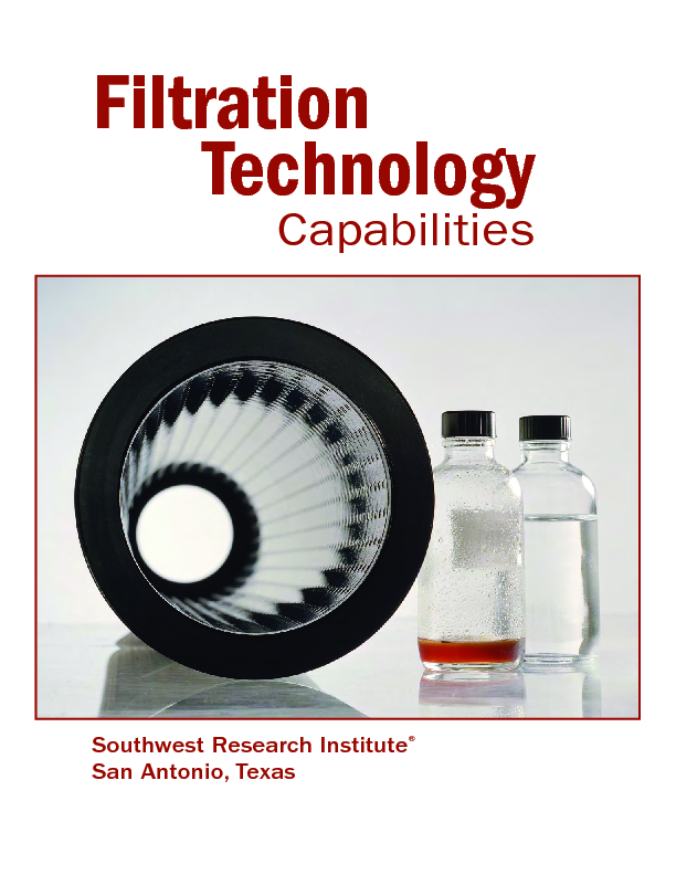 Go to filtration technology capabilities brochure