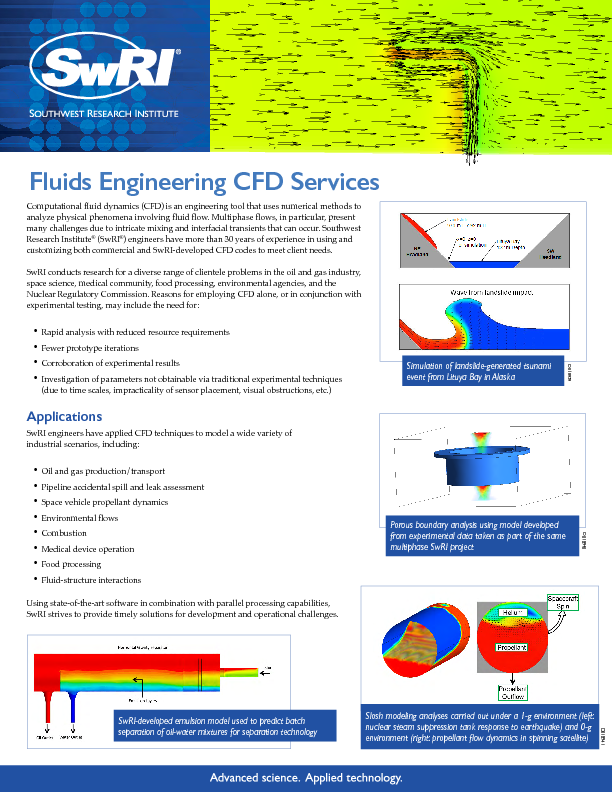 Go to Fluids Engineering CFD Services flyer
