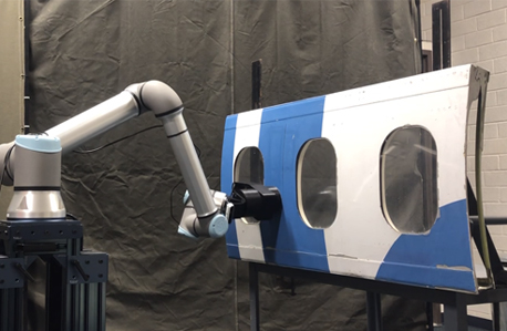 cobot sanding with force control