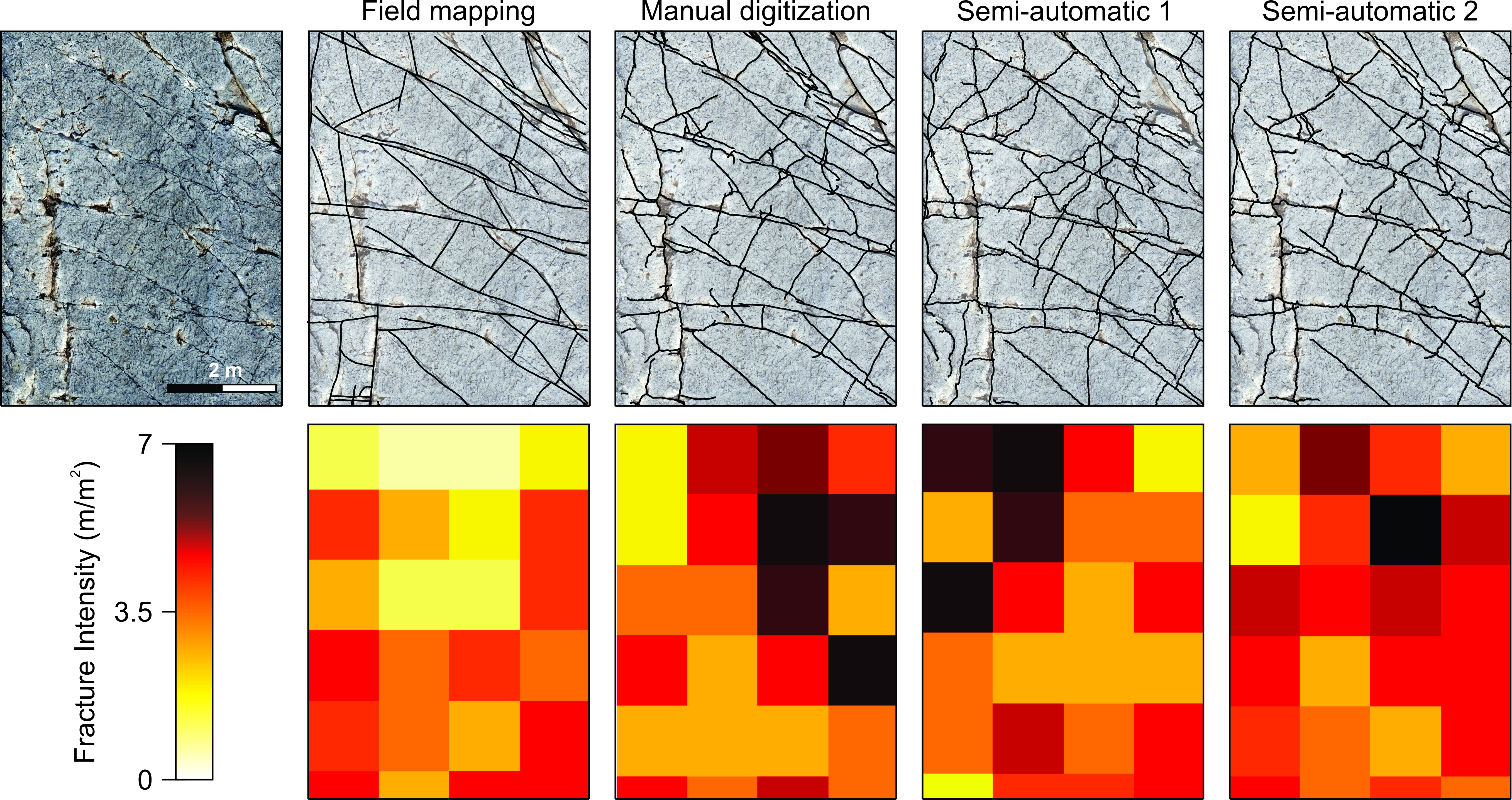 Computer images of field-based fracture maps