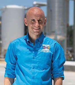 Grant Musgrove wearing a blue shirt