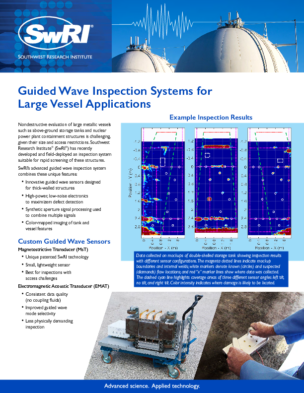 Go to Guided Wave Inspection Systems for Large Vessel Applications flyer