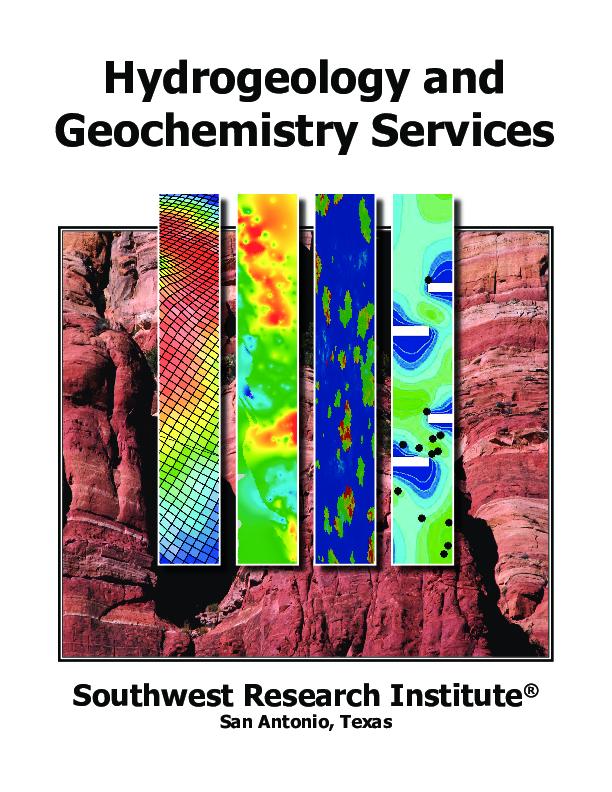 Go to hydrogeology geochemistry services flyer