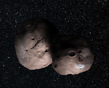 artist's concept of Kuiper Belt object 2014 MU69