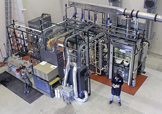 Laboratory-scale plant