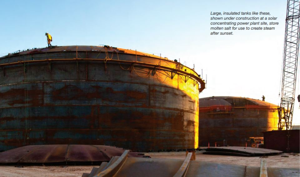 Large insulated tanks