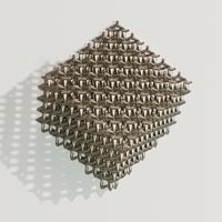 Metal lattice work was 3D printed using additive manufacturing technology