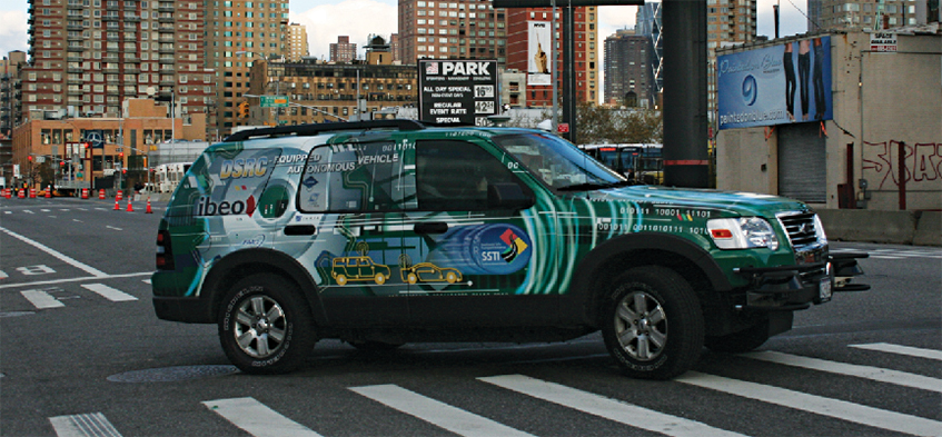 SwRI automated vehicle on New York City street