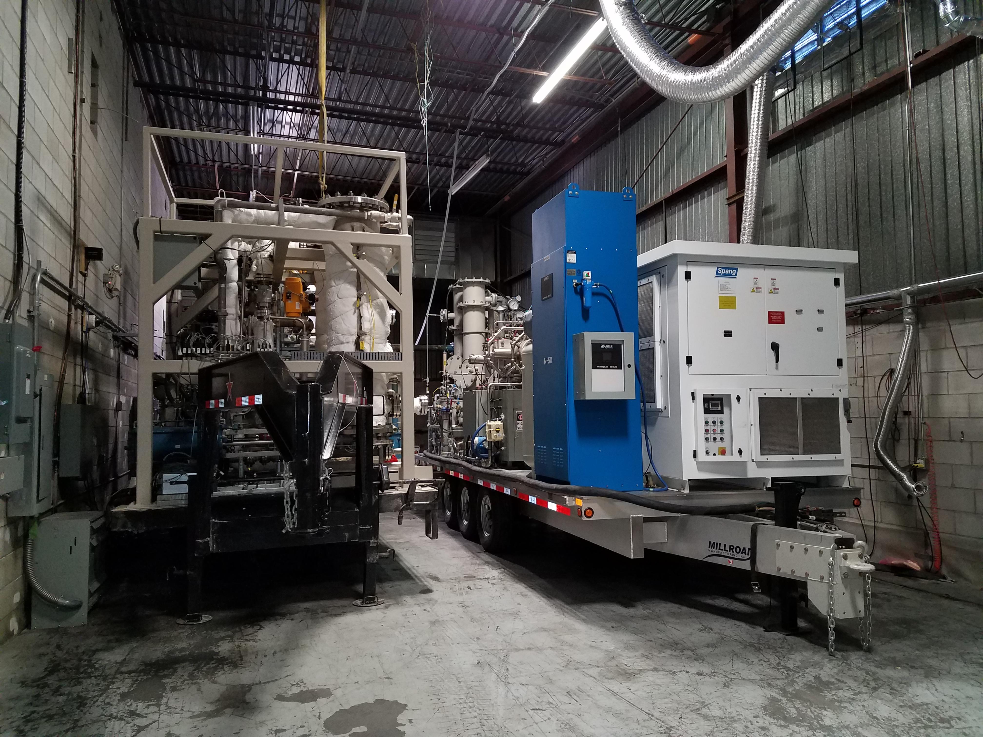 mobile treatment unit to destroy chemical agents
