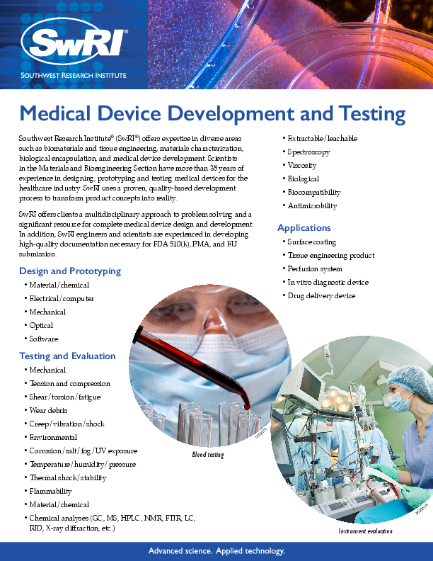 Go to Medical Device Development and Testing