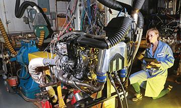 Motor oil testing laboratory