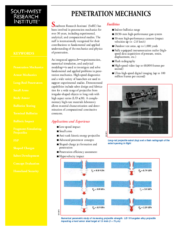 Go to Penetration Mechanics brochure