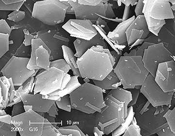 10-micron hexagonal platelets