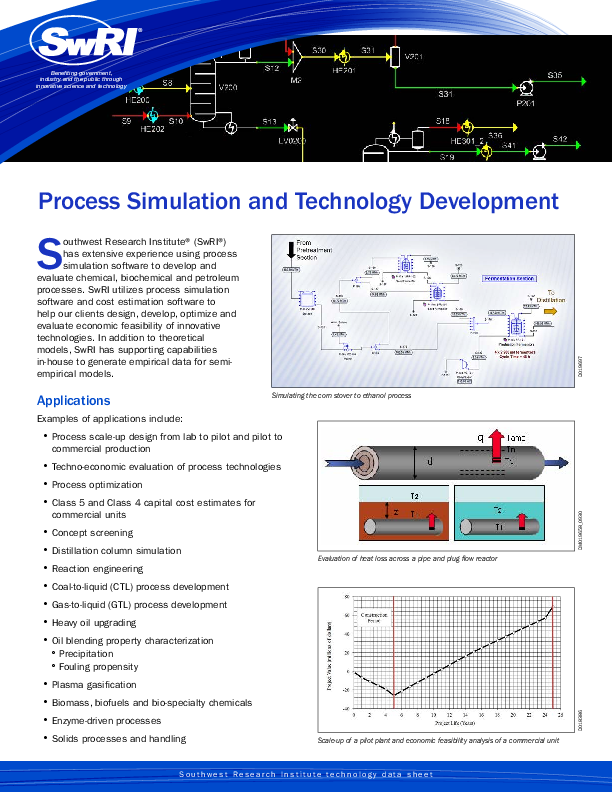 Go to Process Simulation and Technology Development flyer