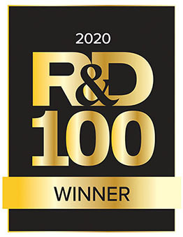 Black and gold R&D100 Award icon