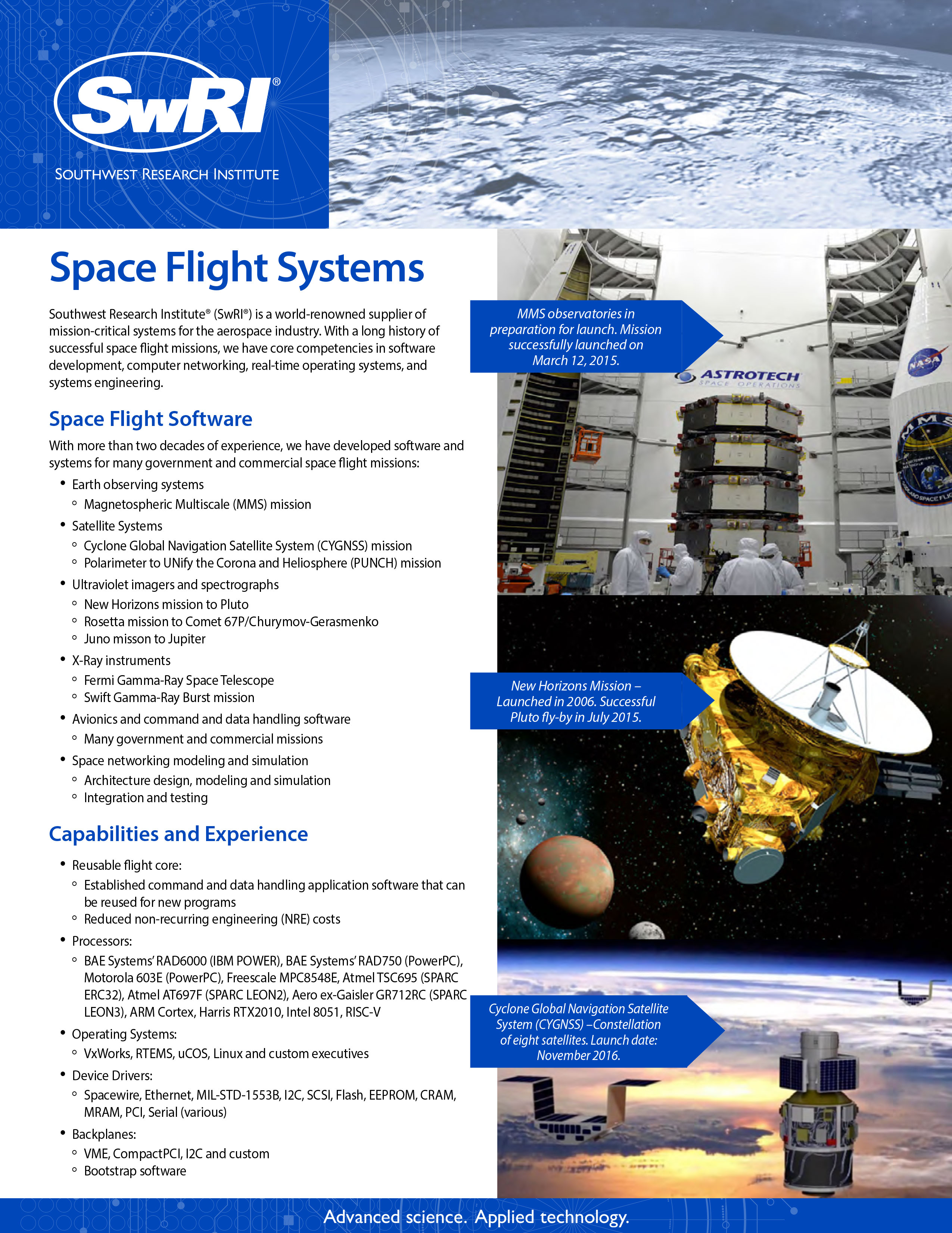 Go to Space Flight Systems flyer