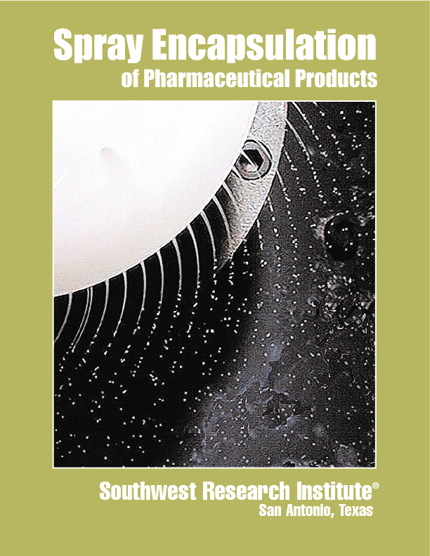 Go to Spray Encapsulation of Pharmaceutical Products flyer