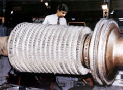 image: high pressure steam turbine rotor