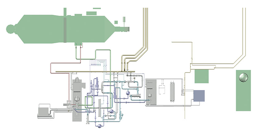 Top down layout of STEP pilot plant