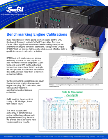 Go to Benchmarking Engine Calibrations brochure