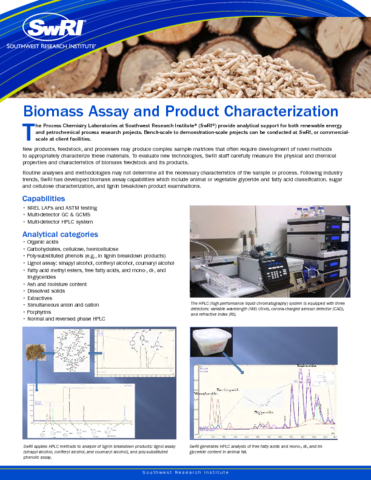 Go to Biomass Assay & Product Characterization flyer