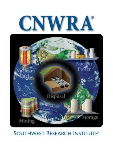Go to CNWRA brochure