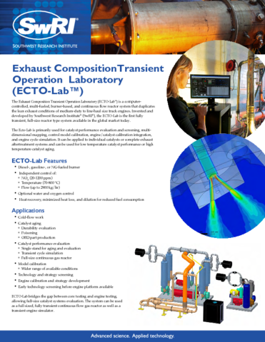Go to Exhaust Composition Transition Operation Laboratory (ECTO-Lab) flyer